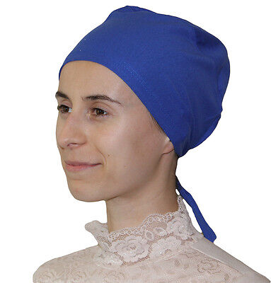 Muslim Women Cotton Hijab Bonnet Underscarf - Royal Blue
