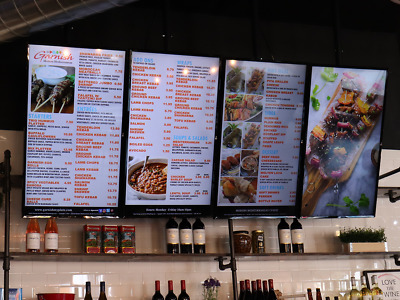 2 Complete Professional DMB Menu System  Digital Menu Board - Restaurants
