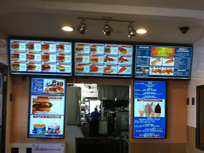 Electronic Menu Board W/ Our FREE DMB Software W/ Animated Picture Menu Design