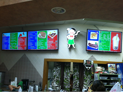"6 Device ""DMB"" Custom Design, Best Digital Menu for Restaurants - $$ OPPORTUNITY"