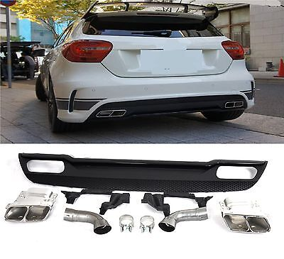 GENUINE A45 AMG Rear Diffuser Sport Edition for Mercedes-Benz W176 A-Class #16