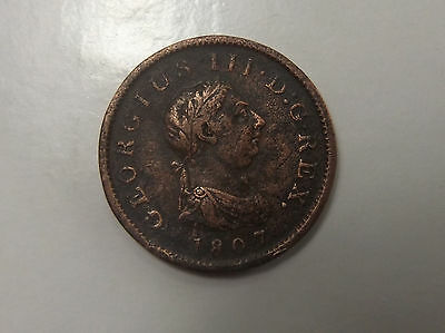 Great Britain 1 Penny 1807, Georgius Iii One Penny Uk