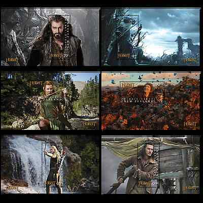 New Zealand Hobbit Desolation of Smaug 6 Mini-Sheets MNH