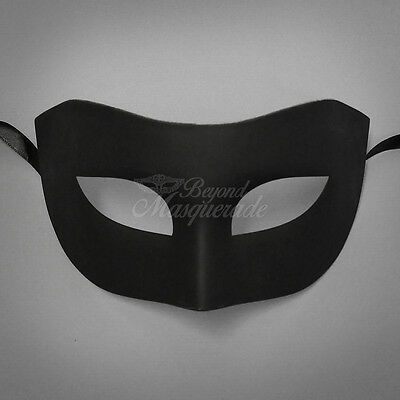Black Simple & Elegant Masquerade For Men Mask Costume Prom Party Mask