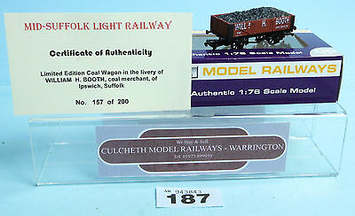 DAPOL 'OO' LTD ED 157 OF 200 'WILLIAM H BOOTH' IPSWICH COAL WAGON NEW #187r