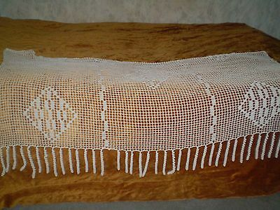Vintage Handmade Cotton Knitted  Curtain