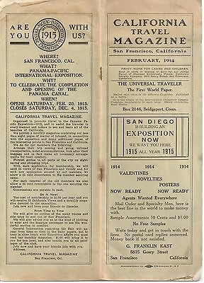 California Travel Magazine - San Francisco 1914 - PPIE Panama Pacific Booklet