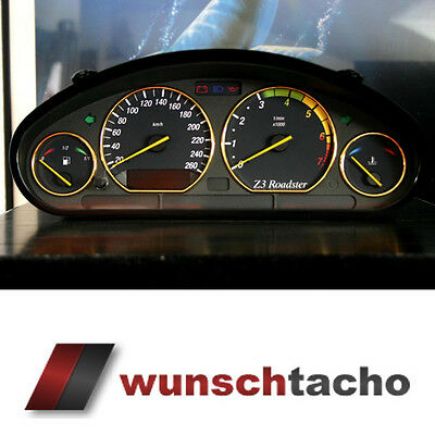 "speedometer speedometer dial for BMW E36 Petrol ""Vamp"" 260Km/h"