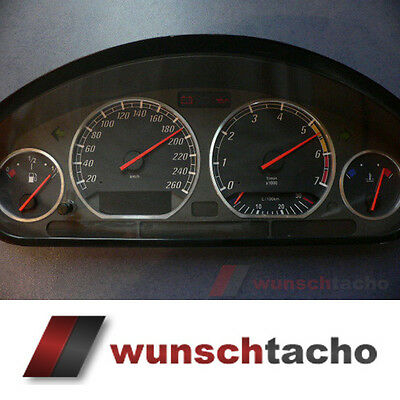"speedometer speedometer dial for BMW E36 Petrol ""Ring"" 260Km/h"