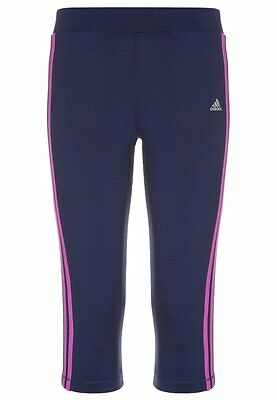 adidas girls performance navy 3/4 sports leggings. Sport bottoms. Various sizes!