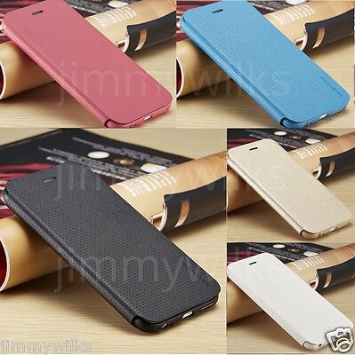SLIM! Genuine PU Leather Flip Case Wallet Cover for Apple iPhone Models