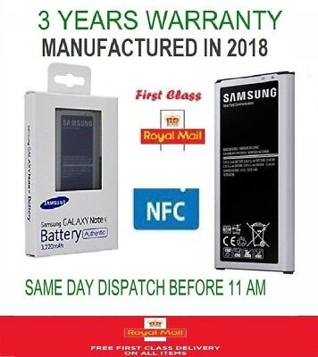 New Original Genuine Battery Samsung Galaxy Note 4 Four NFC SM-N910C 3220mAh NFC