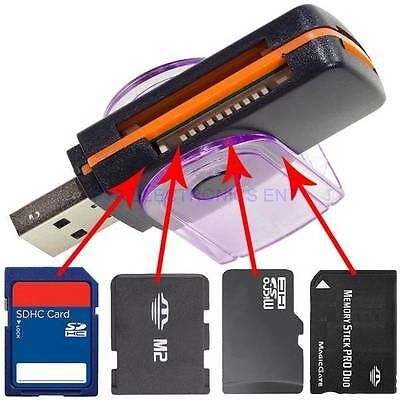 USB 2.0 All in one Multi Memory Card Reader for Micro SD/TF M2 MMC SDHC MS Duo
