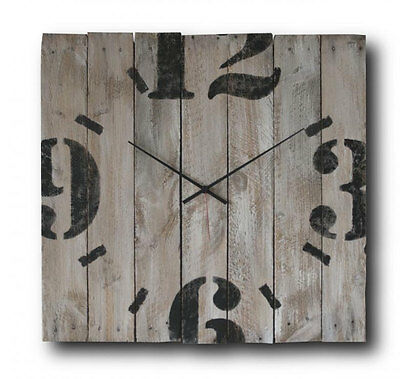 Big wall clock, Original clock, Hand made clock, Wooden clock, design clock
