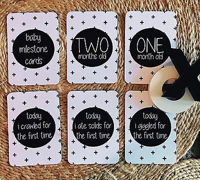 Stock SALE - Baby Milestone Cards - 12 Month Pack - Brand New - $9.99