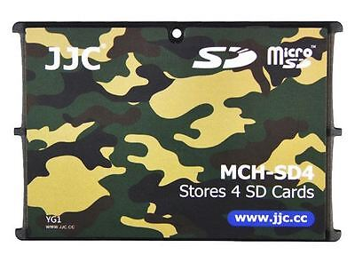 Ultra Slim Credit Card Size Memory Card Holder Hard Case for 4 x SD -Camouflage