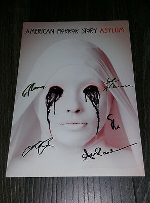 "American Horror Story : Asylum Pp Signed 12""x8"" A4 Photo Poster Evan Peters"