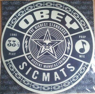 Obey Slipmats Black and White (PAIR) Sicmats