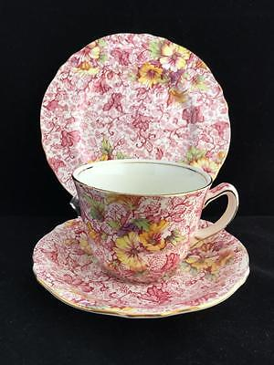 ROYAL WINTON DORSET floral TRIO cup saucer plate