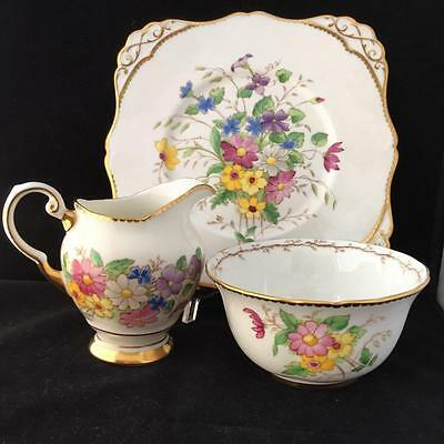 Royal Standard  Cake Plate Jug And Sugar Bowl