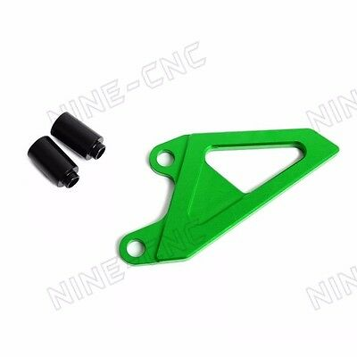 CNC Front Sprocket Cover Anodized Green For Kawasaki KX250 05-08 KX450F 06-16