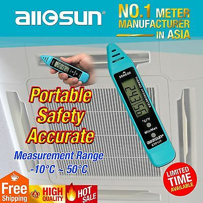 Digital Portable Temperature Tester Hygrometer Thermometer Dewpoint Test Meter