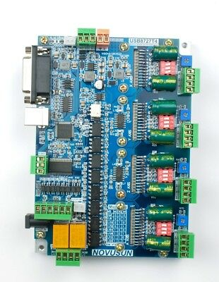 New 4 Axis CNC USB MACH3 Motion Controller Interface Breakout Board Motor Driver