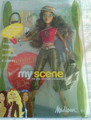 My Scene Hanging Out Madison Doll w/ CD Rom 2003 Mattel New in Box