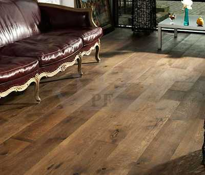 Engineered Oak Flooring Brushed and Lacquered 190mmx20/6mm Wood Floor Hardwood