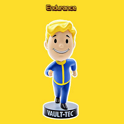 "5"" PVC Toy Figure Fallout 4 Gaming Heads Vault Boy Bobbleheads Endurance"