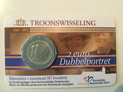 Nederland COINCARD 2 euro 2013 Troonswisseling