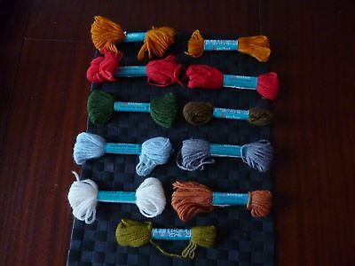 11 Skeins Anchor Coats Mixed/assorted (As Pictures) Tapisserie/tapestry Wool