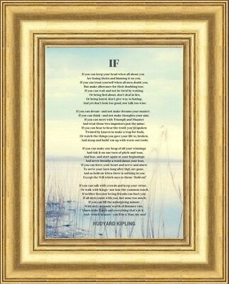Small - If By Rudyard Kipling Framed Printed Poem Gold Frame Others Are Listed