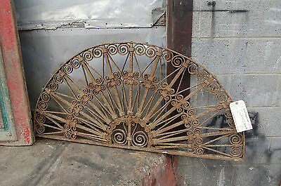 Antique Decorative Arched Iron Panel Garden Artfrom Egypt Upcycle Headboard