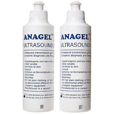 Anagel 250ml Fetal Doppler Ultrasound Transmission Gel - Pack Of 2