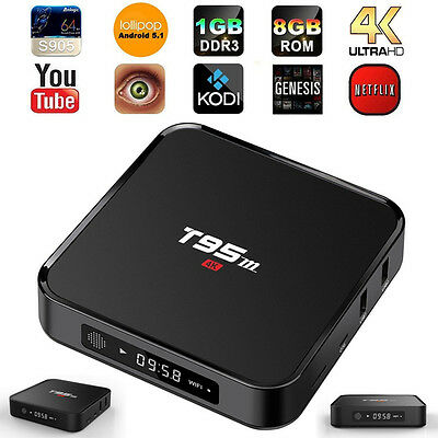 Fully Loaded XBMC T95m S905 Android 5.1 Quad Core 4K TV Box Media Streams