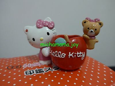 Sanrio Hello Kitty holder stand for stamp stationery cute bear  polyresin