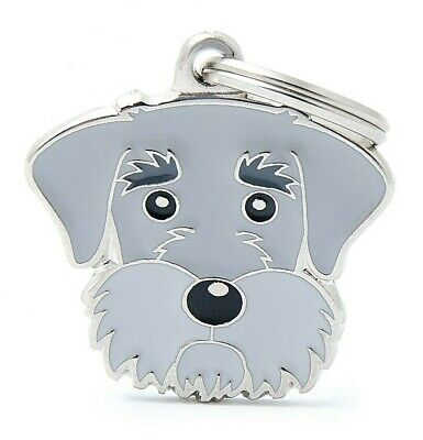 Schnauzer - Dog ID Tag - Engraved FREE Personalised - Charm - Keyring