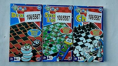3 X Magnetic Pocket Mini Travel Game Traditional Board Portable Game