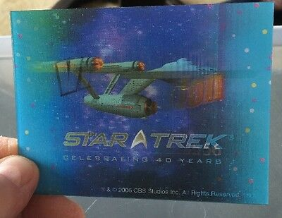 STAR TREK LENTICULAR CARD 40th Anniversary Enterprise