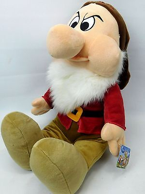 Disney Snow White GRUMPY Dwarf Soft Toy Plush Jumbo Large 24""