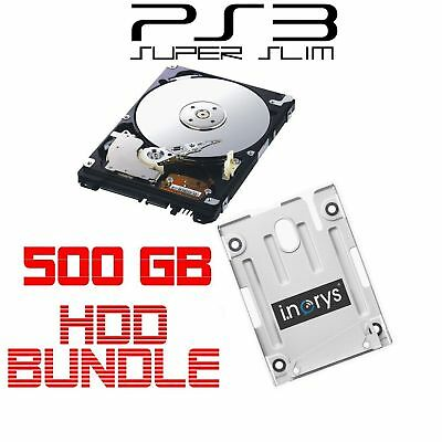 Sony 500GB Festplatte für PS3 Superslim + HDD Mounting Bracket Playstation 3