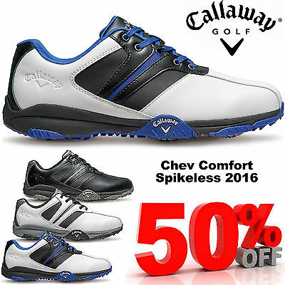 Callaway Golf Shoes Chev Comfort Mens Leather Waterproof Golf Shoes New 2016