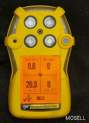 BW Technologies Gas Alert Quattro O2 CO H2S LEL Detector Calibrated