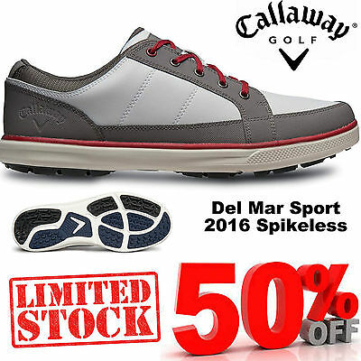 CALLAWAY GOLF SHOES DEL MAR SPORT Ortholite® MENS LEATHER WATERPROOF GOLF SHOES