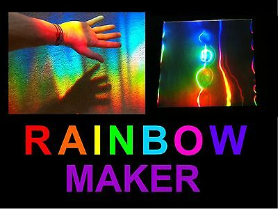 SUN CATCHER / RAINBOW MAKER SHEET, HUGE Rainbows Across Your Room Using The Sun