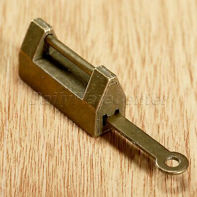 Chinese Old Style Lock Vintage Brass Padlock Wedding Jewelry Box Catch With Key