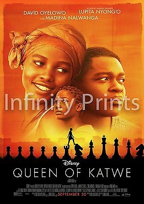 Queen of Katwe  Movie Film Poster Various Posters and Sizes A3 A4