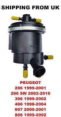 Fuel Filter Housing Peugeot 206 Sw 306 406 607 807 -- 2.0 2.2 Hdi Bosch System