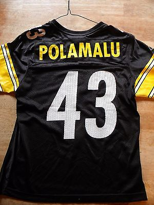 Vintage Jersey Shirt Troy Polamalu Pittsburg Steelers Nfl Football Team S Small